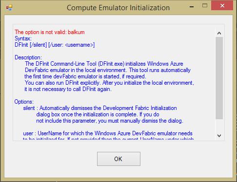 Stephen Balkum » Blog Archive » Azure SDK DFInit fails for